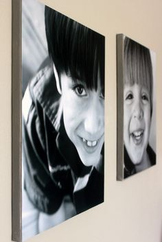 DIY PHOTO CANVAS FRAMES - this is not photo transfer, but rather a way to place your photos on canvas - a quick & easy DIY
