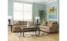 Found our sleeper sofa for the TV room/Guest room! Got in in mocha color and now need to paint the room some kind of ocean-y blue!