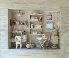 Miniature sewing room - image only for inspiration - Patricia Cruzat Artesania y Color