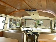 VW Bus Camper Interior | Volkswagen Van 1960 Interior The interior was also redone