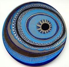 Decorative Plate -Evil Eye Plate - Original hand-painted Artwork - Wall Hanging - Blue Evil Eye Decor - Wall Art - Blue Mandala by biancafreitas on Etsy