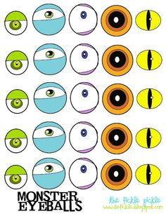 Printable for Monster Eyes to attach to small Reese's Peanut Cups