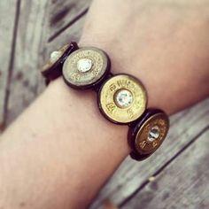 12 Gauge Shotgun Shell Stretch Bracelet