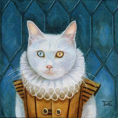 """Renaissance Cat"" by Terry Webb Harshman"