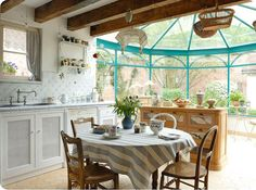 Kitchen with a conservatory! how amazing