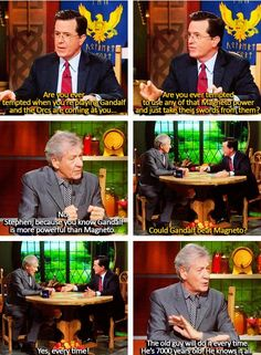 Gandalf > Magneto (what I wouldn't give to pull up a chair, sip a cuppa tea, and join in on this conversation...)