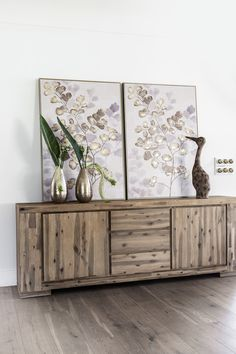 The Palma Sideboard is handcrafted from Acacia wood and has simple, elegant lines with a natural finish. Acacia Wood, Sideboard, Natural Wood Finish, Dining Room Furniture, Room Furniture, Furniture, Accent Decor, Home Decor, White Decor