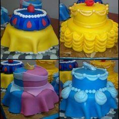Princess Fondant cakes