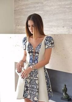 Make this with an African print. Dress Outfits, Cool Outfits, Casual Outfits, Fashion Outfits, Fiesta Outfit, Plus Size Fashionista, Classic Outfits, Summer Dresses, Formal Dresses