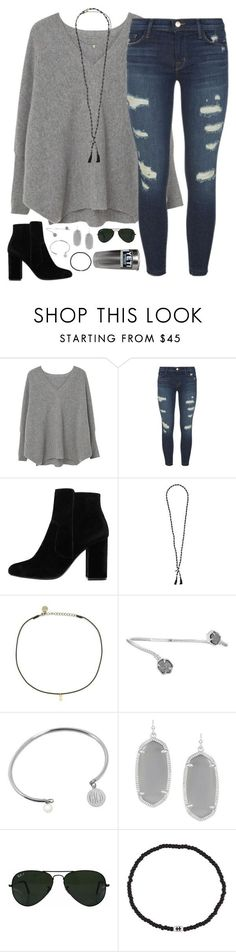 """zip a dee do dah, zip a dee day"" by kaley-ii ❤ liked on Polyvore featuring MANGO, J Brand, Chan Luu, Cloverpost, Kendra Scott, Jane Basch, Ray-Ban and Luis Morais"