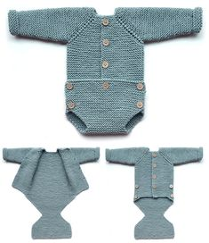 Free Knitting Pattern for Pelele Onesie - Garter stitch onesie with buttoned fas. - Free Knitting Pattern for Pelele Onesie – Garter stitch onesie with buttoned fastenings on front - Boys Knitting Patterns Free, Knitting For Kids, Crochet For Kids, Baby Patterns, Free Knitting, Knitting Yarn, Style Baby, Onesie Pattern, Baby Pullover