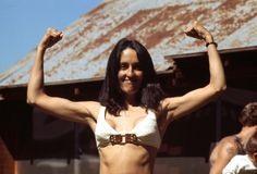 Joan Baez clowning at Struggle Mountain (Bob Fitch Photography Archive, Stanford University. Department of Special Collections. Rock And Roll History, Joan Baez, Idole, Folk Music, Bob Dylan, Women In History, Woodstock, Music Is Life, Actors & Actresses