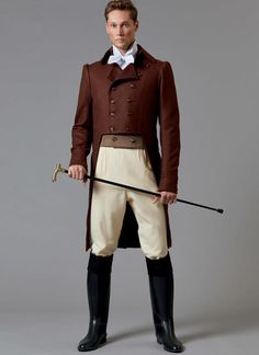Equestrian Clothes: Body Or Back Protectors Men's Equestrian, Equestrian Outfits, Equestrian Fashion, Horse Riding Clothes, Riding Boots, Suit Fabric, Costume Patterns, Contrast Collar, Le Far West