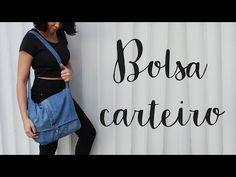 Saiba como produzir diferentes tipos de bolsa de tecido e mais, aprenda a combinar o acessório com as melhores peças e sapatos. Trash To Couture, Sporty Chic, Mochila Jeans, Diy Mochila, Diy Messenger Bag, Denim Crafts, Diy Clothing, Sewing, Youtube
