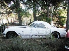 '54 Chevrolet Corvette removable hardtop. Wow, save it!   #barnfinds