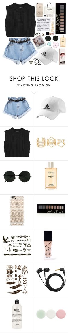 """""""i wanna be your left hand man"""" by gucci-stardust ❤ liked on Polyvore featuring adidas, Neil Barrett, Charlotte Russe, Chanel, Casetify, Forever 21, NARS Cosmetics, Sennheiser, philosophy and Nails Inc."""