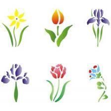 Трафарет Набор цветов 4