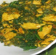 Chicken with fresh spinach, please  follow the link for  recipe  http://www.facebook.com/pages/Indian-Snacks/456319944407594