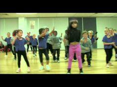 Cute Kinder Hip Hop Warm Up - YouTube