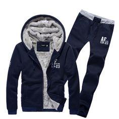 6a8b177e4b6e 2015 New men s fashion boutique fleece warm winter leisure sport suits    man with thick warm