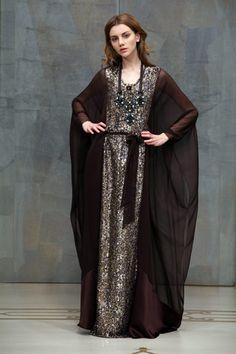 Reem Acra, Abaya, bisht, kaftan, caftan, jalabiya, Muslim Dress, glamourous middle eastern attire