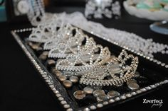 6. Breakfast at Tiffany's tiaras  All girls need a tiara when celebrating at a Tiffany's party, just like Audrey Hepburn! *Maybe just for the mother-to-be!!
