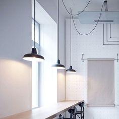 Nice lighting of Bistro Proti Proudu interiors by Mimosa Architekti  - #architecture #interior #interiordesign #design #furniture #light #lighting
