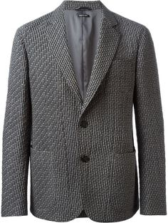 $1,068, Grey Quilted Blazer: Giorgio Armani Quilt Detailing Classic Cut Blazer. Sold by farfetch.com. Click for more info: https://lookastic.com/men/shop_items/145589/redirect