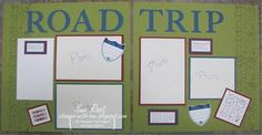 Stampin' With Sue: Travel Log - Scrapbook Pages. One of my most viewed posts. Happy National Scrapbooking Day!