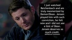 Jensen's acting skills are so AWESOME, he deserves more credits #justsaying ... I TOTALLY AGREE ^_^ || Jensen Ackles || Demon Dean #Deanmon || SPNatural confessions # demon!dean #Supernatural 10x02 Reichenbach