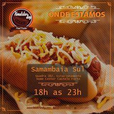 Hoje 23/05/2016 - Segunda feira a partir das 18:00 até as 23:00 horas  estaremos em Samambaia Sul  estacionamento público ao lado da Home Center Castelo Forte. _______________________________ PROMOÇÃO ESPECIAL ESTENDIDA  Hotdog Tradicional  Refrigerante kuat 350ml por R$ 900 reais ______________________________  Aguardo todos vocês para se deliciarem com o único e melhor hotdog self-service no quilo.  #houdstardog #hotdog #omelhornoquilo #foodtrailer #samambaia #selfservice by houdstardog