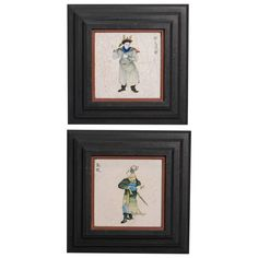 Two Late 19th Century Framed Chinese Tiles 1