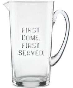 kate spade new york all in good taste Words Pitcher $30