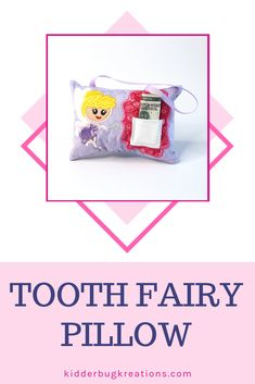 Tooth Fairy Pillow for baby/'s first birthday is a great keepsake for mom or grandmother baby gift baby/'s first present