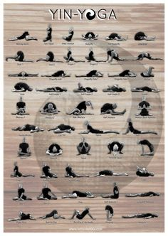 Yin Yoga Asanas Poster