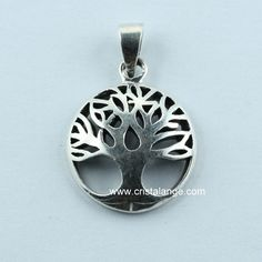 Mighty Oak Tree charme collier argent sterling 925 Rond Gravé Disque Arbres Cadeau