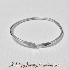 Sterling Silver West Indian Style Bangle by KalaiopyJewelry