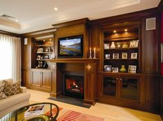 Built-in Entertainment Center traditional living room