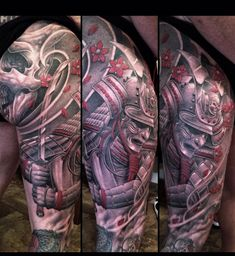 Art work by Greg Nicholson, such a sick samurai tat #myworldofink
