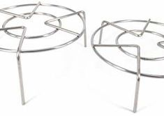 Set of two Heavy Obligation Spherical Stainless Metal Steamer Rack Inch Inch Top)