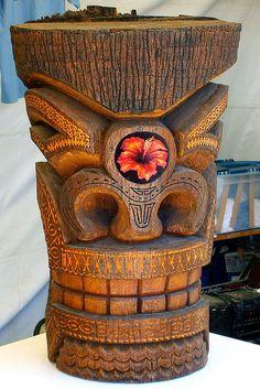 Tiki Heads   Tiki Head   Flickr - Photo Sharing! Tiki Art, Tiki Tiki, Tiki Head, Tiki Bar Decor, Tiki Totem, Humanoid Creatures, Tiki Lounge, Hawaiian Tiki, Hula Dancers