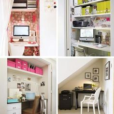 A few years ago while visiting my sister in Virginia, I fell in love with a nook in her bedroom that she transformed into a nice workstation