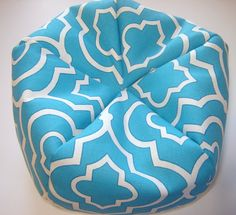 Doll Bean Bag Chair for 18 Inch American Doll in Turquoise and