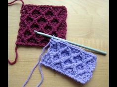 Diamond Trellis Stitch Tutorial - YouTube