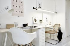 white office / desk / workspace