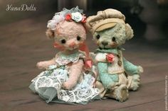 Teddy Bears handmade.  Order Caramels.  YanaDolls.  Fair Masters.  Teddy Bear, a teddy bear in the clothes and sawdust