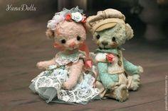 Teddy Bears handmade.  Order Caramels.  YanaDolls.  Fair Masters.  Teddy Bear, a teddy bear in the clothes and sawdust