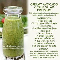 Avocado Lime Dressing