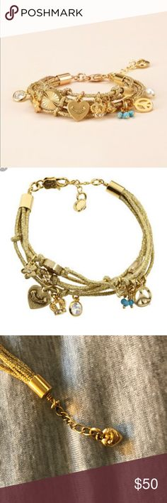 Juicy couture metallic multi charm braclet Juicy couture metallic multi charm bracelet. Worn a few times and in perfect condition Juicy Couture Jewelry Bracelets