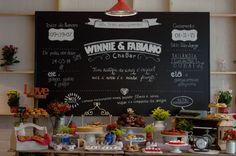 Chá Bar Moderno e Alegre – Winnie Cha Bar, Chai, Chalkboard Quotes, Art Quotes, Party, Wedding, Instagram, Decor Ideas, Lingerie